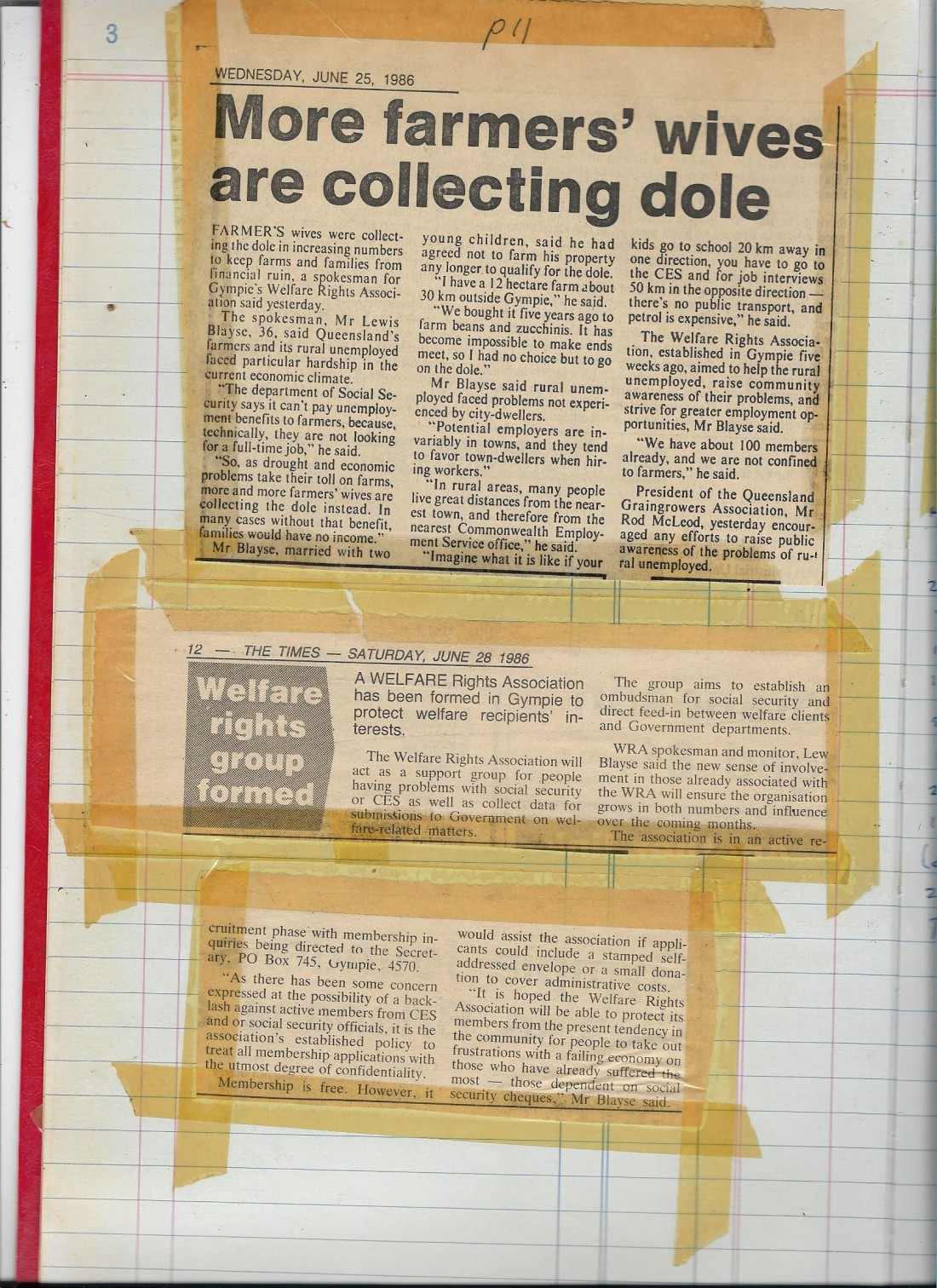 Gympie Times 1986