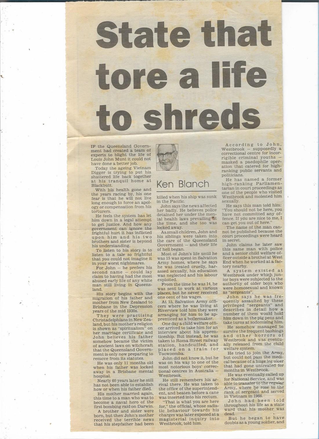 John Munt article