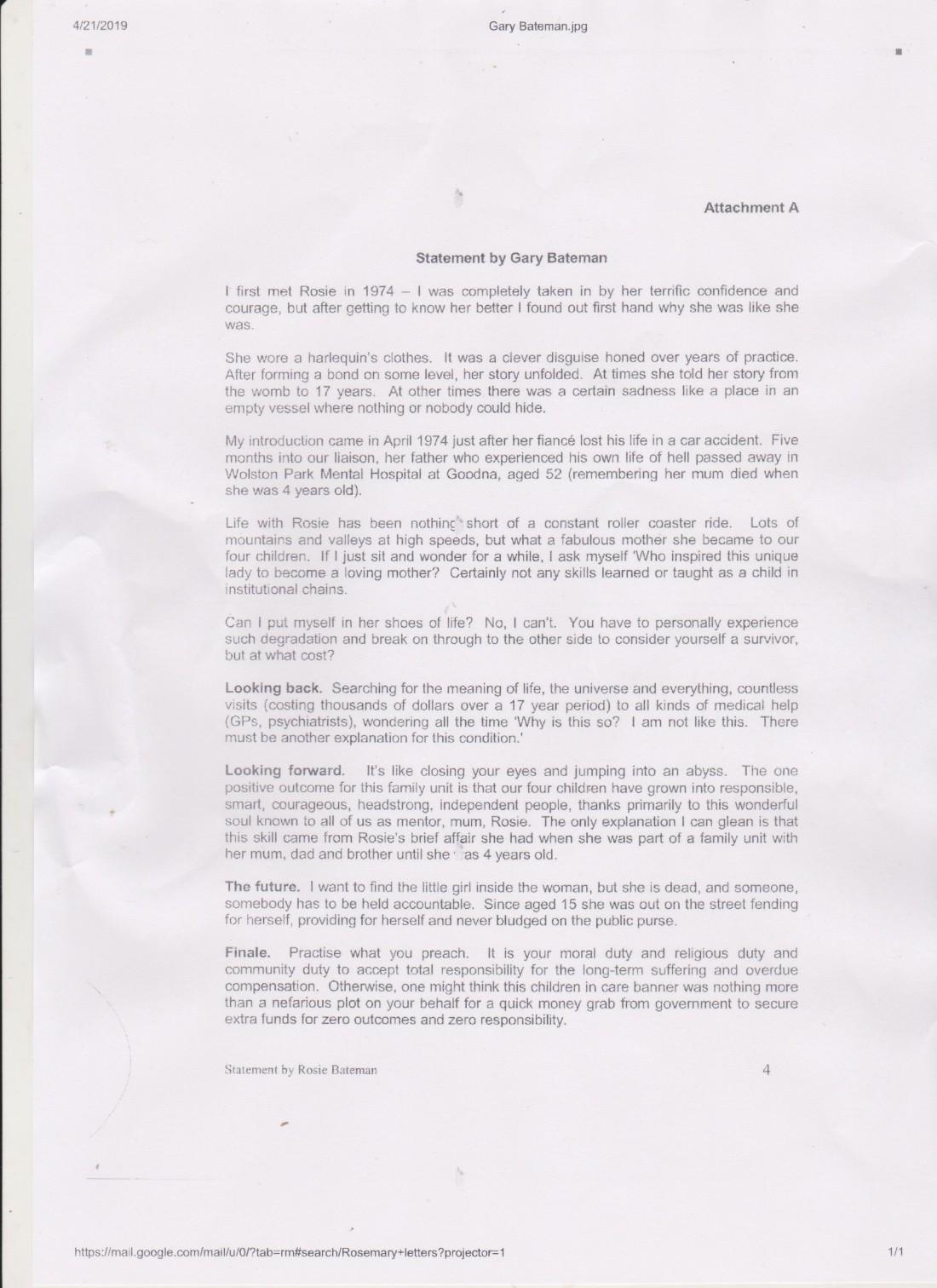 Gary Bateman statement