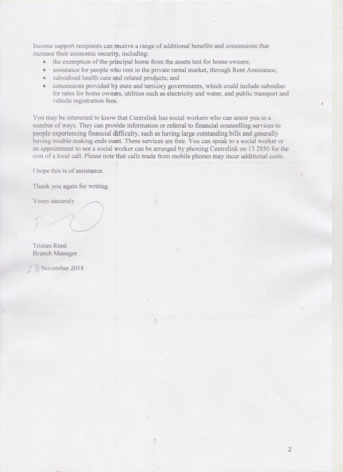 Social Services reply p.2